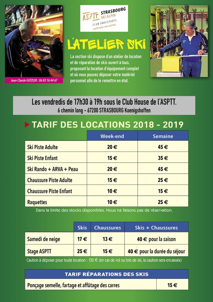 Descriptif atelier & tarifs